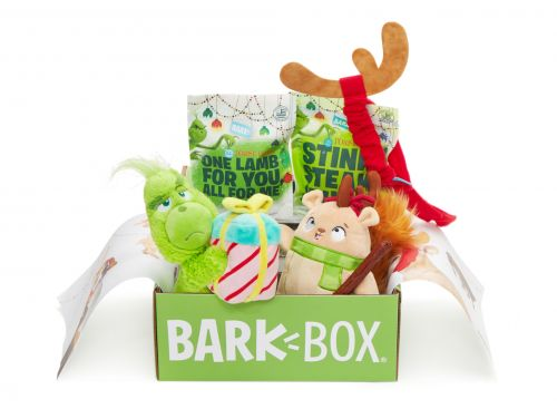 LIMITED EDITION: Get Your Dog A Grinch BarkBox For $5 With A New Plan