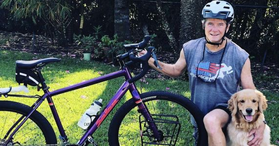 Man Bikes Across The United States To Save Rescue Dogs