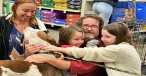 Family Reunited With Their Dog While Waiting To Adopt A Cat