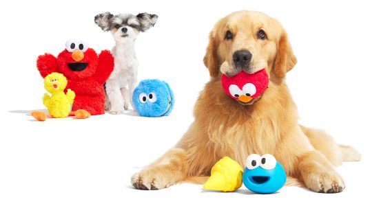 Bring Home Elmo, Cookie Monster, Big Bird, & More With BARK's Limited-Edition Sesame Street Collection